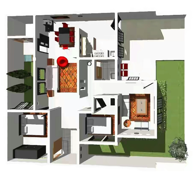 gambar sketsa 3d rumah minimalis