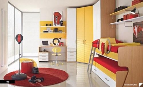 ide kreatif desain kamar anak berbagi privasi