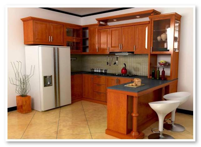 kabinet dapur coklat