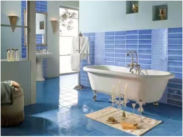 kamar mandi dengan keramik yang tidak licin