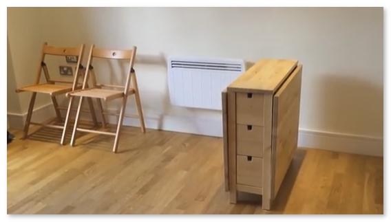 meja lipat norden yang simple praktis