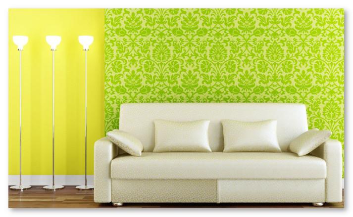 pola wallpaper ruang tamu yang menawan