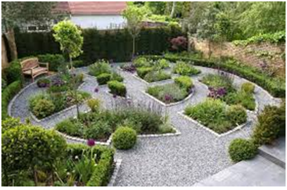 taman depan rumah untuk kesegaran rumah anda