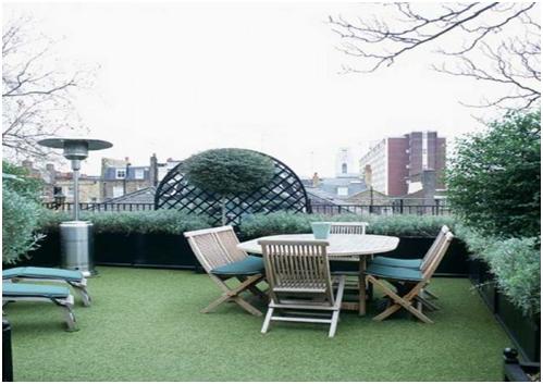 udara segar pada taman minimalis rumah