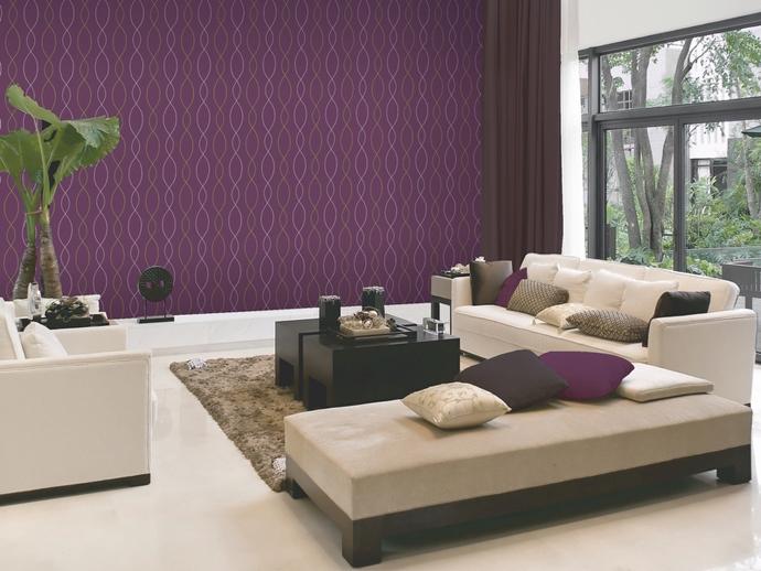 wallpaper pada desain interior rumah
