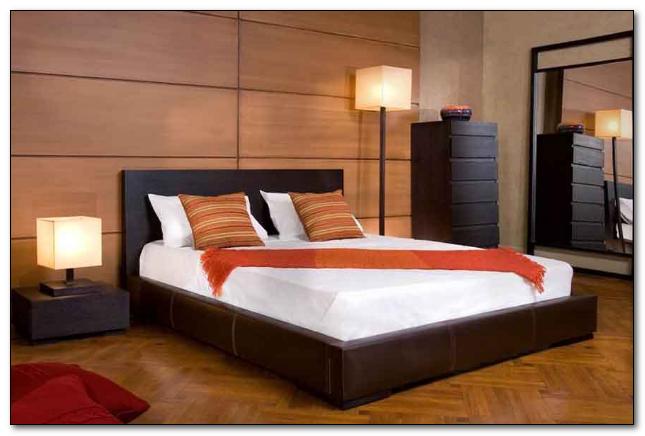 desain kontemporer kamar tidur warna hitam modern