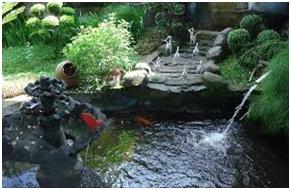 air mancur pada kolam taman minimalis rumah