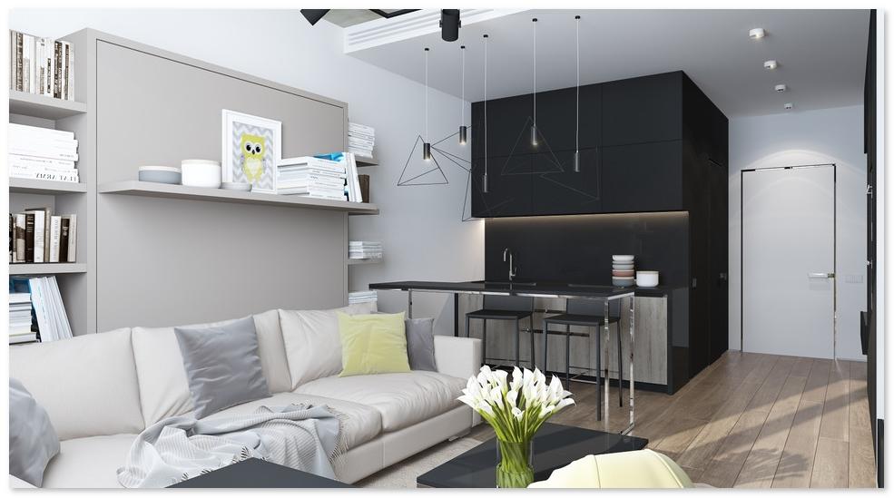 denah tata ruang interior rumah type 21