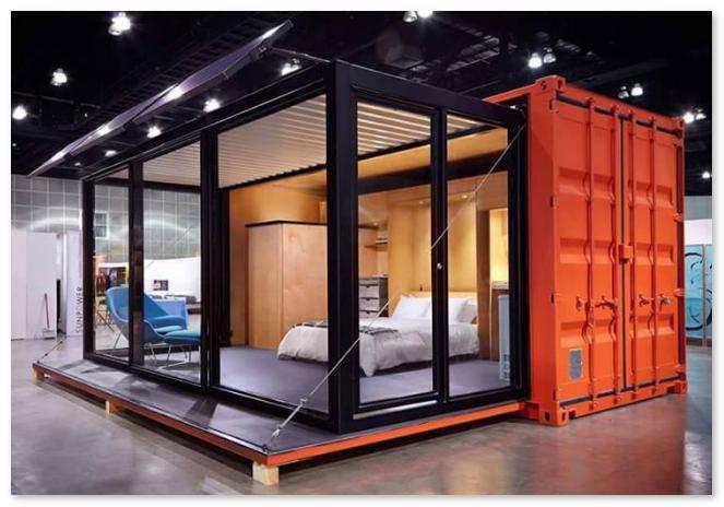 desain kamar tidur dari kontainer