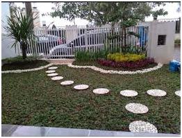 penggunaan batu alam pada taman kecil rumah anda
