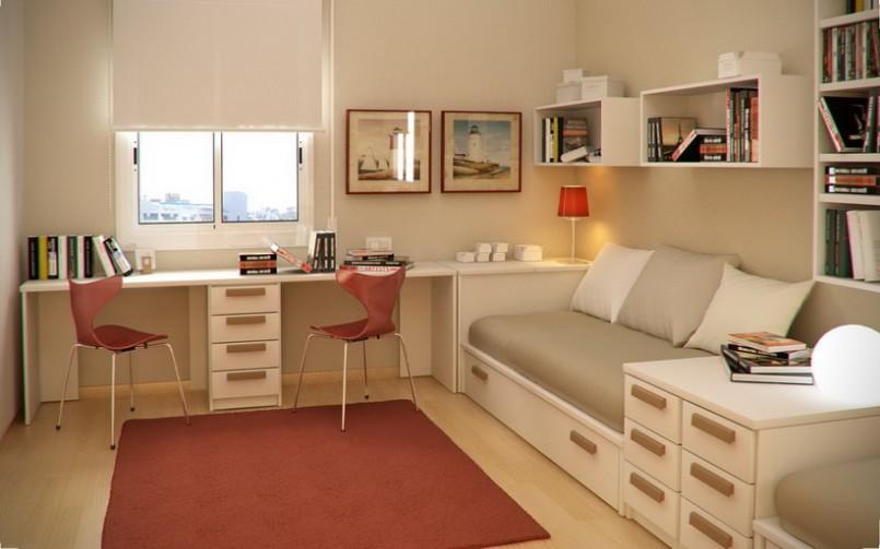 cara dekorasi ruang sempit kamar tidur