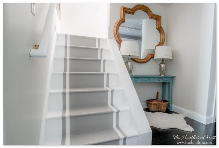 desain tangga tanpa pegangan di sebelah kirinya