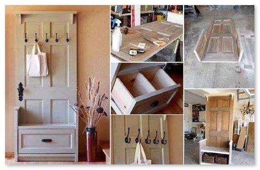 furniture antik dari pintu bekas
