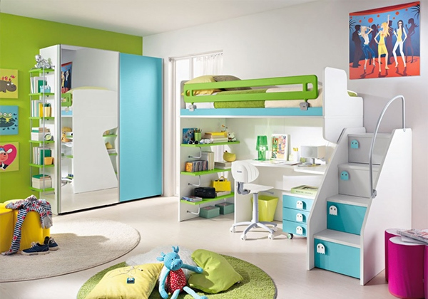 aneka perabotan yang unik untuk kamar tidur anak