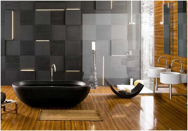 bathtub yang mewah untuk kamar mandi modern
