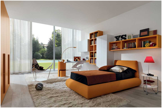 dekorasi kamar tidur warna putih coklat nuansa rumah minimalis