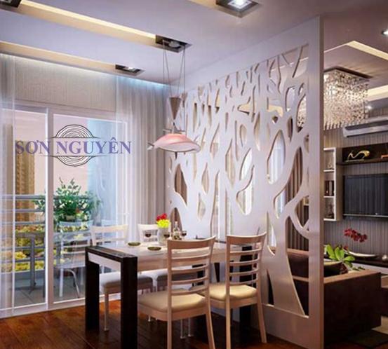 desain partisi ruangan makan dan living room