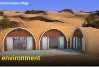 desain rumah yang tahan terhadap cuaca panas seperti gurun