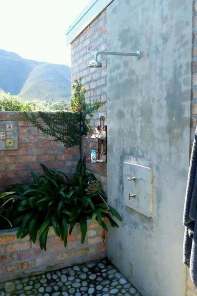 kamar mandi outdoor pemandangan gunung