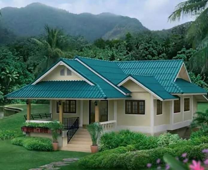 rumah di pedesaan yang indah dan asri