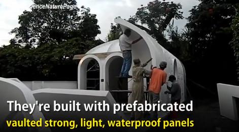 rumah yang bisa dibongkar pasang dan pemasangan yang mudah