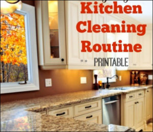 bersihkan dapur sehari-hari