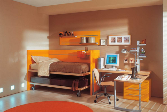 cat warna coklat untuk kamar tidur anak