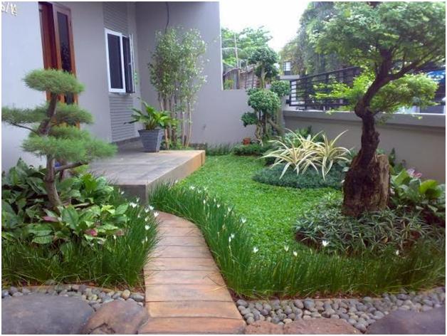 contoh taman yang umum pada rumah minimalis