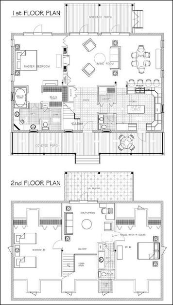 denah rumah 2 tingkat minimalis