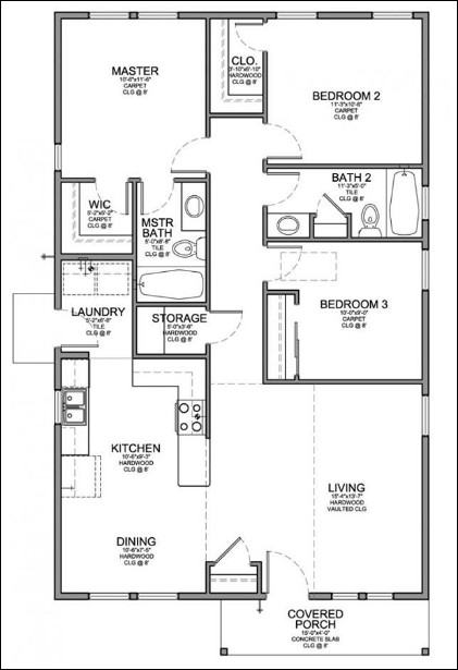 denah rumah minimalis tipe 65