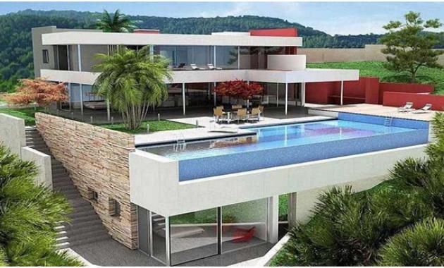 Desain Rumah Mewah 2 Lantai Dengan Kolam Renang Istimewa ...