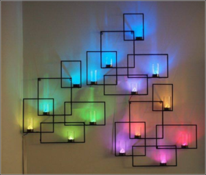 kreasi desain hiasan dinding lampu led yang keren