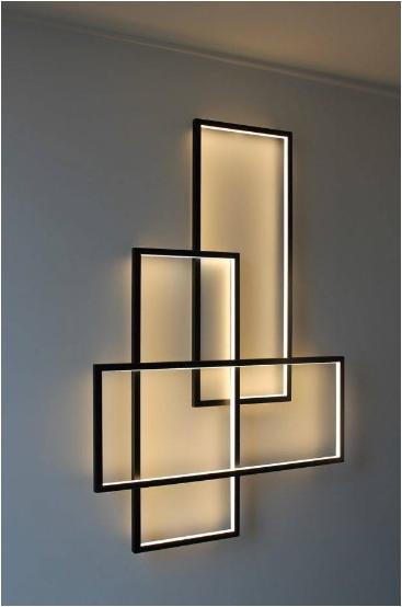 kreasi lampu led pada dinding