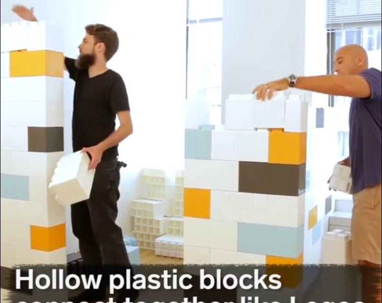 Membagi Ruangan Yang Luas Menjadi Dua Ruangan Dengan Block Lego