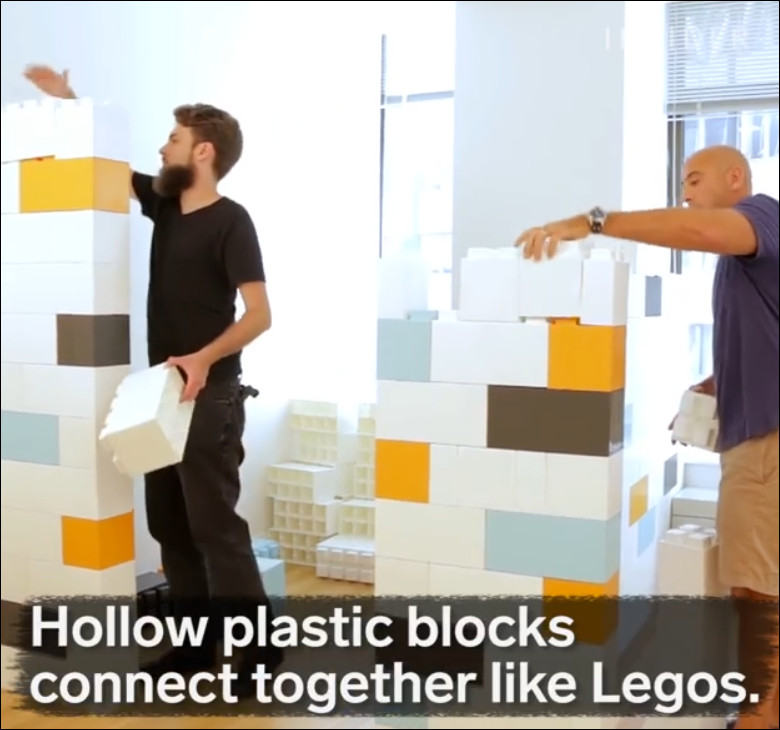 membuat partisi ruangan dari block lego