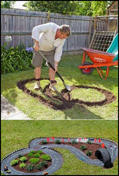 membuat playground sendiri untuk arena bermain anak di taman rumah