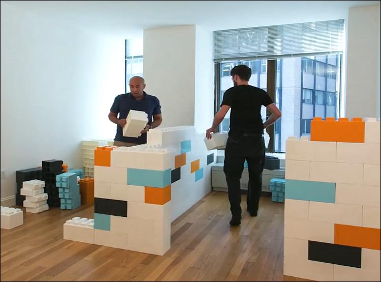 membuat ruangan dari blok lego