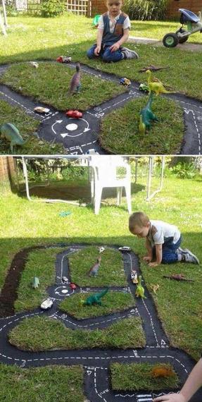 playground anak di taman rumah