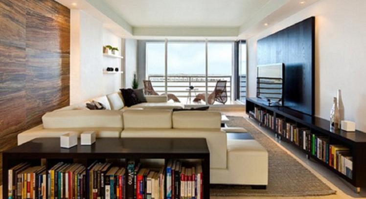 ruangan kosong dibuat rak buku