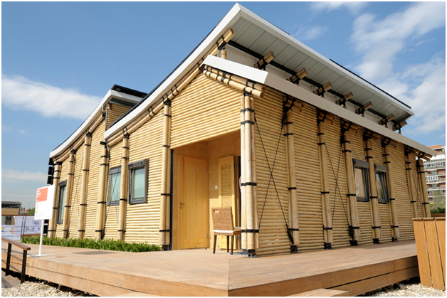 rumah minimalis bahan dasar bambu yang unik
