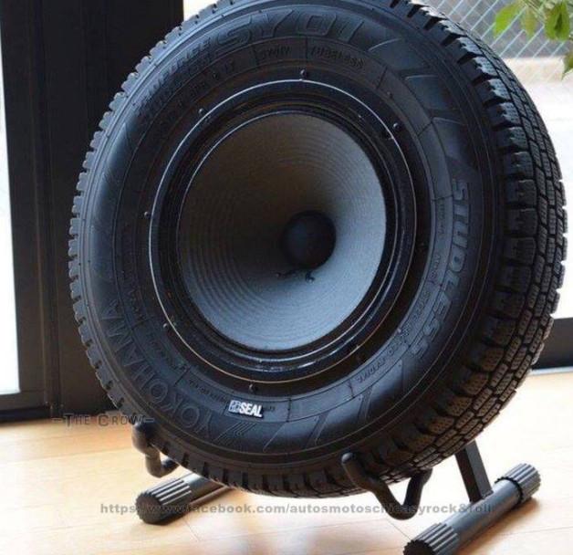 sound system dari ban bekas