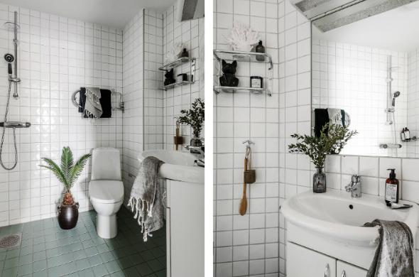 desain kamar mandi apartemen kecil abu