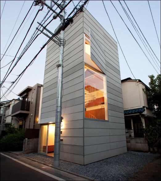desain rumah modern sederhana sempit di jepang