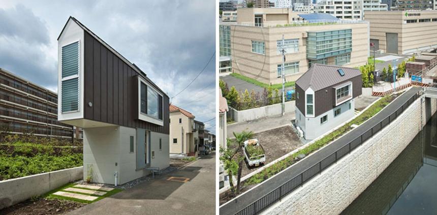 desain rumah sempit modern di tokyo