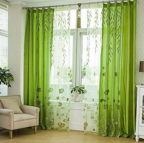 Desain gorden warna hijau yang mengagumkan desain rumah unik - Telas para cortinas juveniles ...