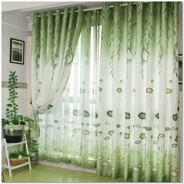 interior gordden warna hijau dengan corak yang bagus