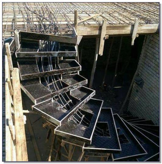 konstruksi tangga besi