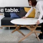 meja kopi yang bisa menjadi meja makan