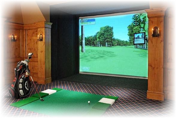ruang game golf untuk hobi golf
