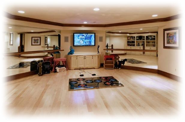ruangan dansa di dalam rumah sekaligus bermain game